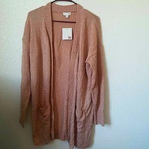 NWT Peach Cardigan, Size XL